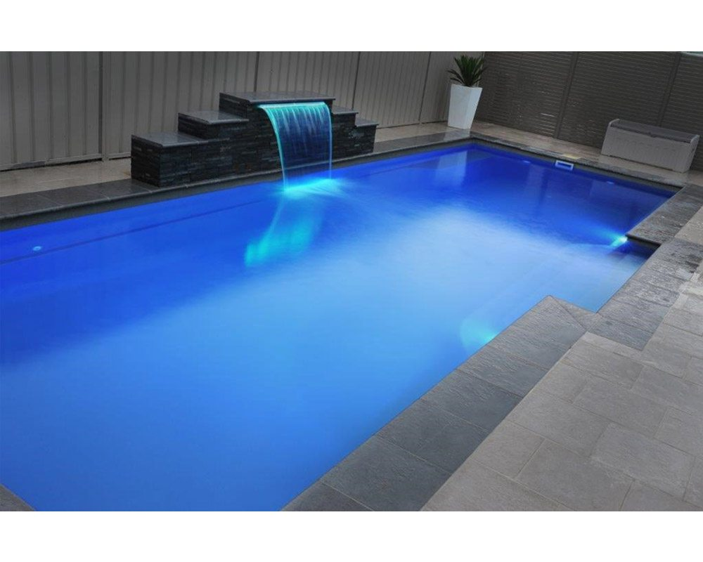 DIY Swimming Pools' Cosmo 11 Coral Grey Lights Pool Design