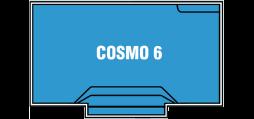 DIY Swimming Pools' Cosmo 6 Pool Design - 6 metre pool with a depth ranging between 1.1m to 1.7m